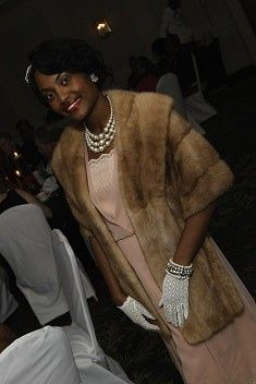 Porsha of North Carolina wore this 1930s dress to her birthday party!
