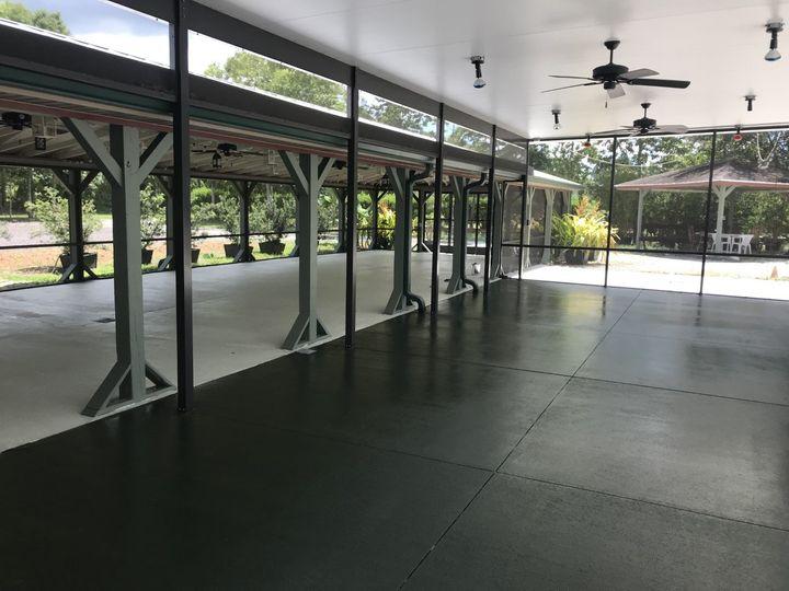 EG Pav. newly painted floor