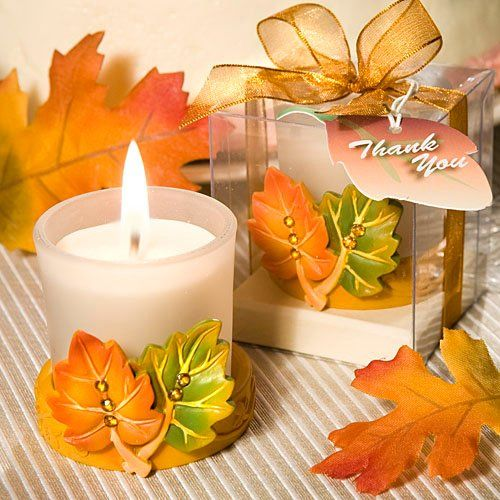 Leaf Design Candle Favors -$3.00 USD