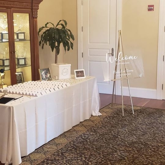Reception: Place card and Sign