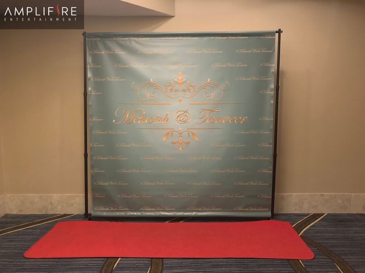 Red carpet step & repeat banner