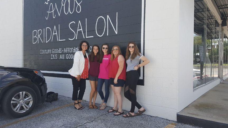 Group photo outside the salon