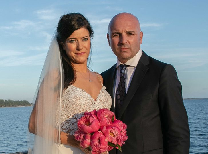 Potrait of the happy couple