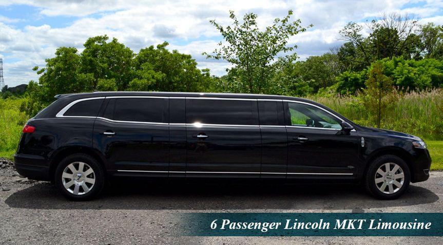6 passenger Lincoln MKT limousine