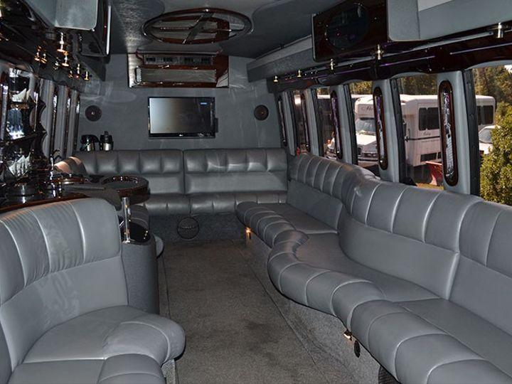 Tmx 26 Pax Limo Bus Interior 1 51 86973 157972190967525 Newtown, PA wedding transportation
