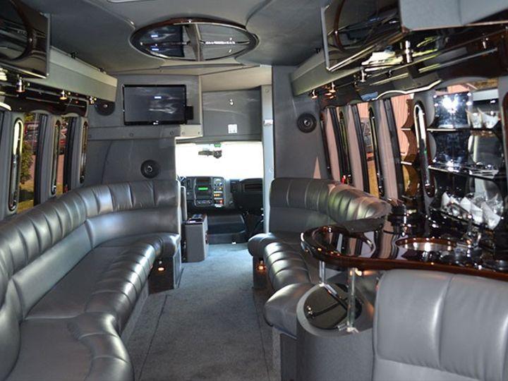 Tmx 26 Pax Limo Bus Interior 2 51 86973 157972275674857 Newtown, PA wedding transportation
