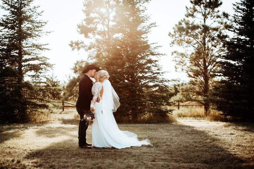 Intimate newlywed photos