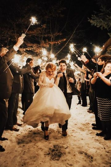 Snow and sparklers