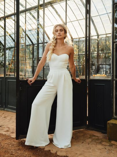 Contemporary jumpsuit for the modern bride