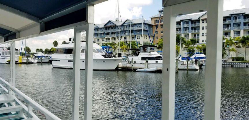 View of little harbor resort