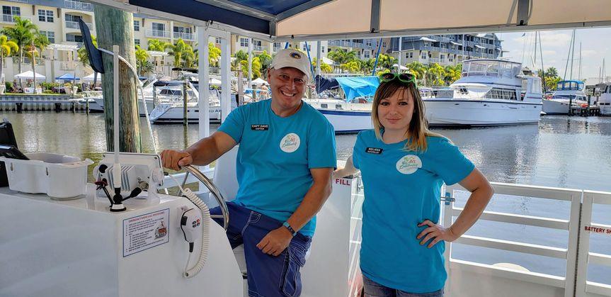 Capt dave & 1st mate melissa