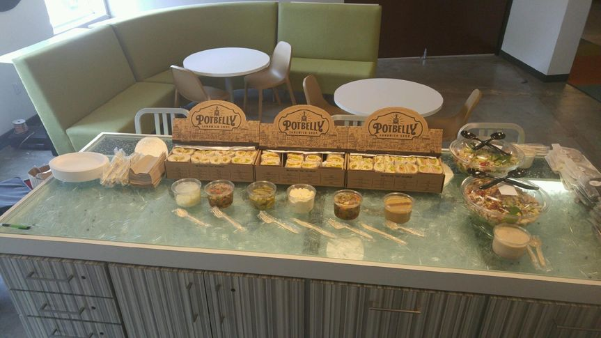 Get office catering from a Potbelly Sandwich Shop near you. Check out menus, reviews, and on-time delivery ratings. Free online ordering from ezCater.
