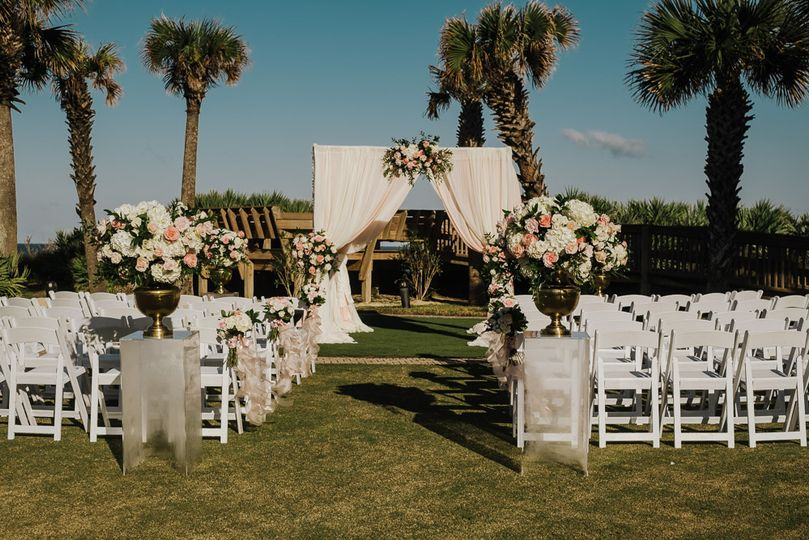 An outdoor ceremony site