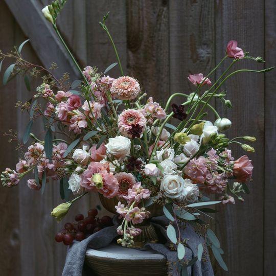 Wild and lush arrangement