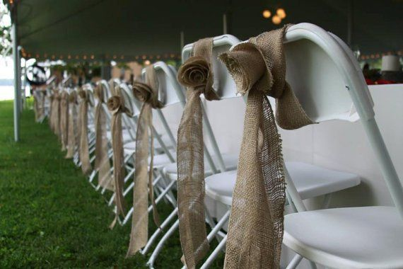 Burlap Sashes  Rental Price $0.25 each