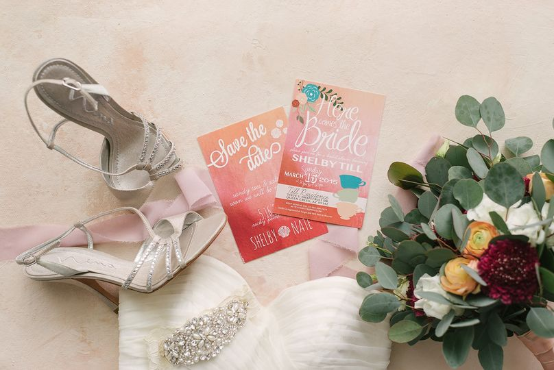 Vibrant colorful invitations
