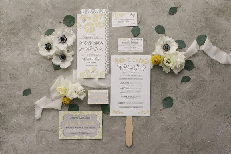 Custom wedding stationery suite
