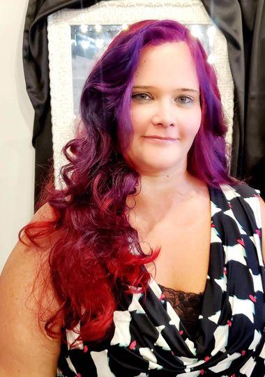 Mermaid hair for reception