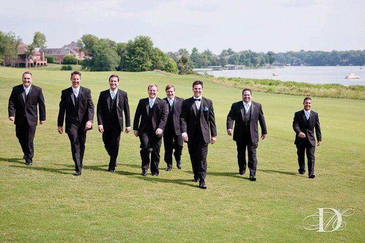 Gentlemen in tux