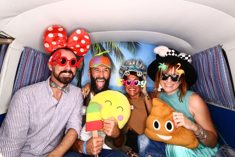 Guests having fun Photo booth