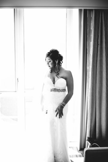The bride is ready