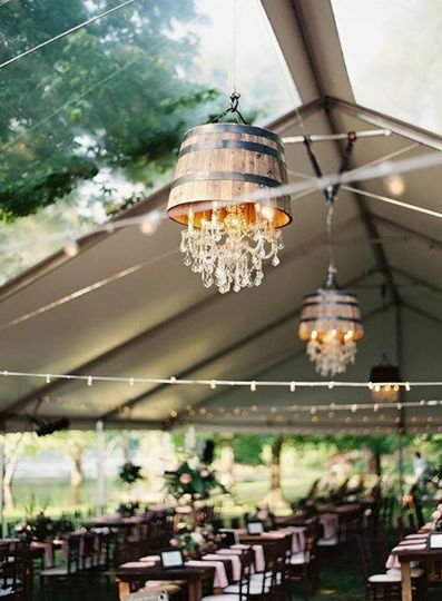 Custom Whiskey Barrel Chandeliers Tulsa Oklahoma Integrity Lighting IncTulsa Wedding Lighting Tulsa...