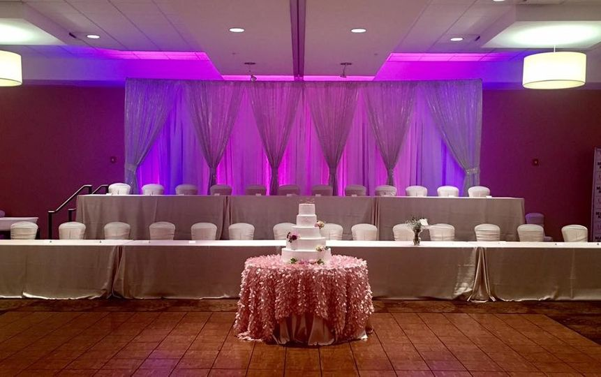 Head tables and cake table