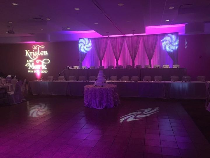 Lighting by the head table