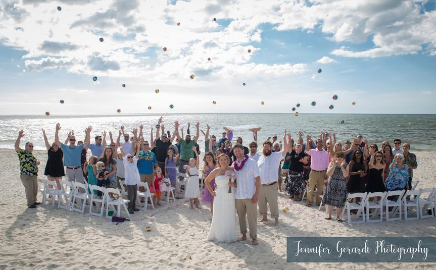 Beach Ceremony w/ guests