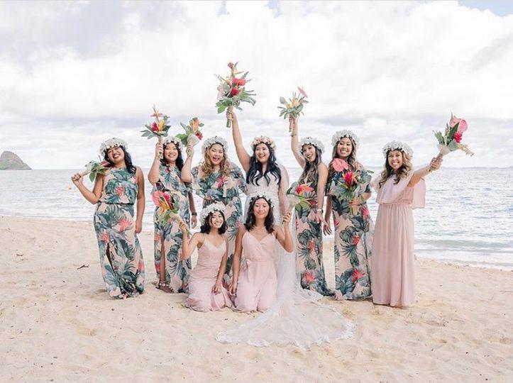 Bride & bridal squad