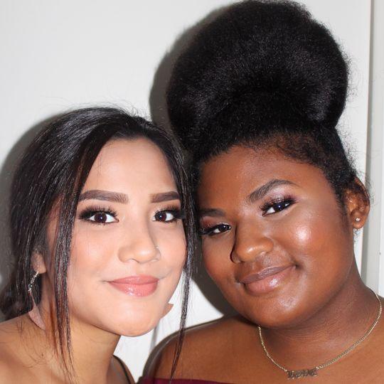 Soft glam, hair & makeup