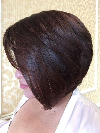 Sleek Blowout on short hair