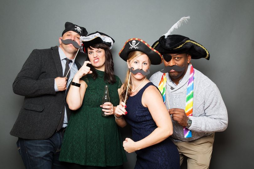 Ahhh... a photobooth isn't a photobooth without a group of pirates!!  This crew was a riot!!