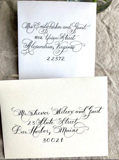Envelopes with black ink
