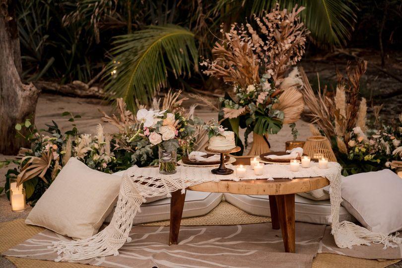 Boho Chic Romantic Dinner
