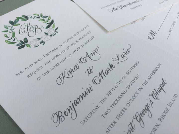 Custom monogram invite suite