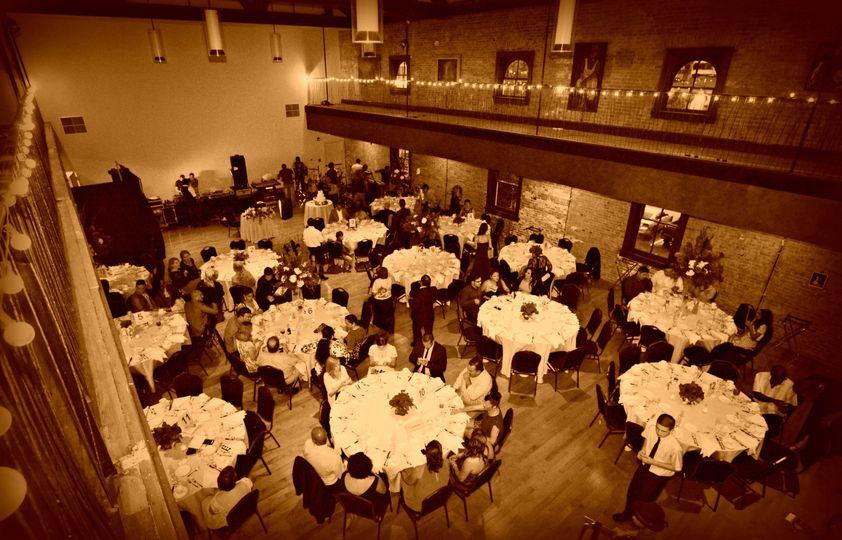 ballroom in sephia