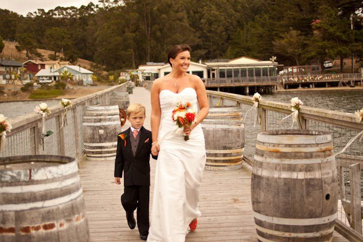 Bride with her boy