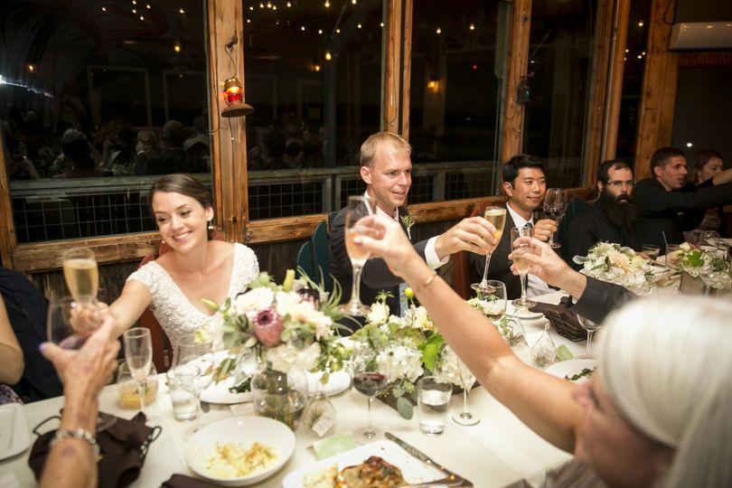 Toast to the newlyweds