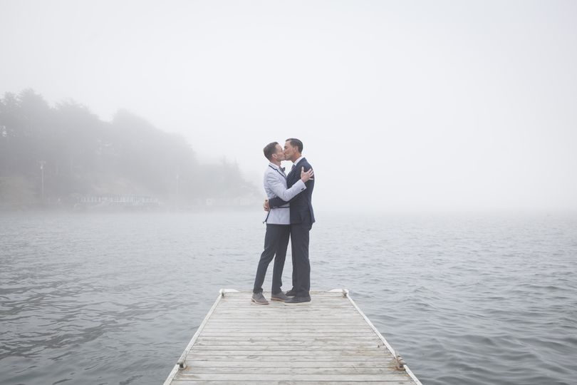 Kissing at the dock