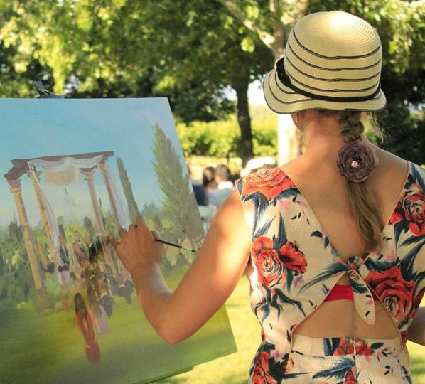 Wedding Live Painting by Talia Koval
