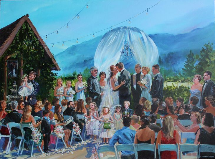 Wedding ceremony painting