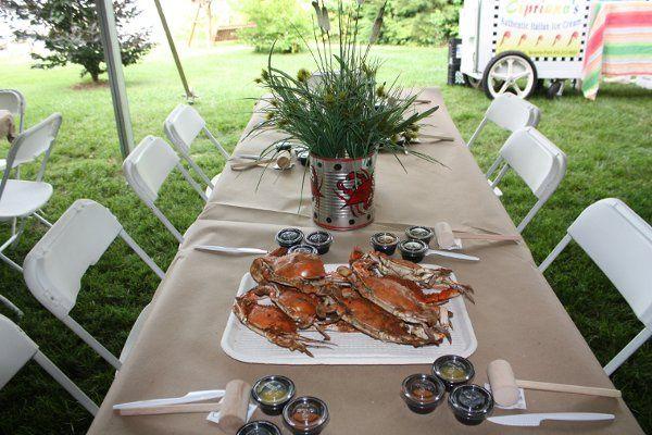Crab serving
