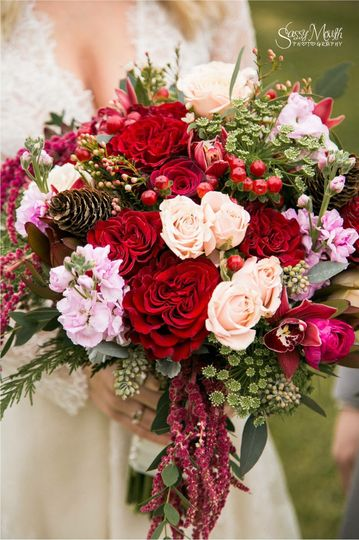 Red and pink arrangement