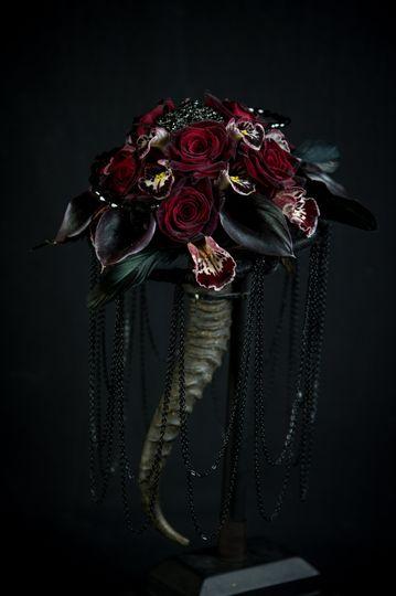 Goth bridal bouquet