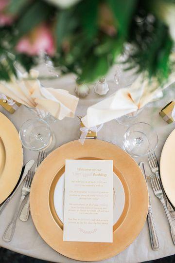 Décor to match wedding color scheme