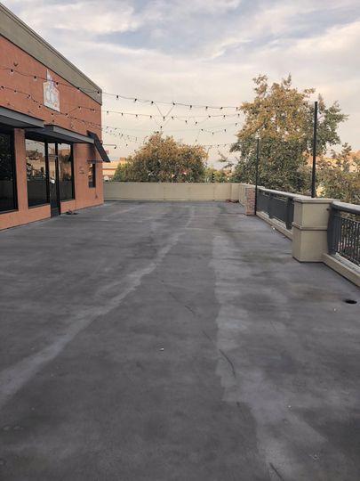Blank canvas patio