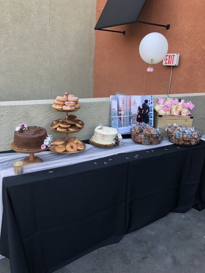 Engagement party treat table