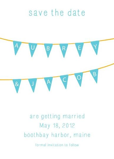 A fun way to announce that you are getting married!   You may use any color combination you would...