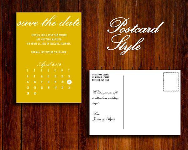 YellowCalendarPostcard